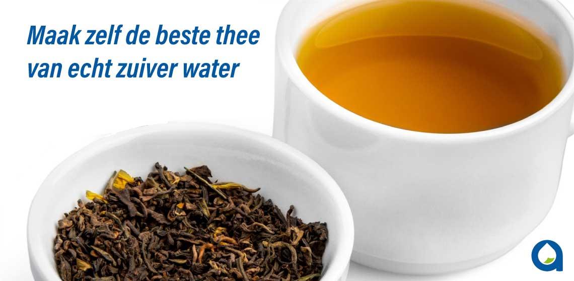 De beste thee bereid je met echt zuiver water